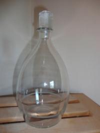 Karaffel, klart glas